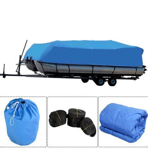 17 18 19 20 Quot Heavy Duty Fabric 600d Waterproof Trailerable Pontoon Boat Cover Ebay Boat Cover Templates