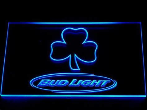 bud light shamrock neon sign bud light shamrock outline led neon sign safespecial