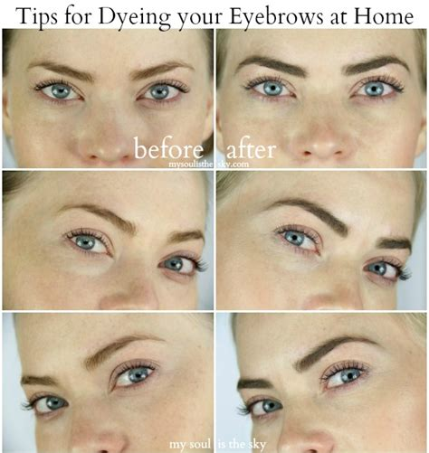 dying at home how to dye your eyebrows at home sue