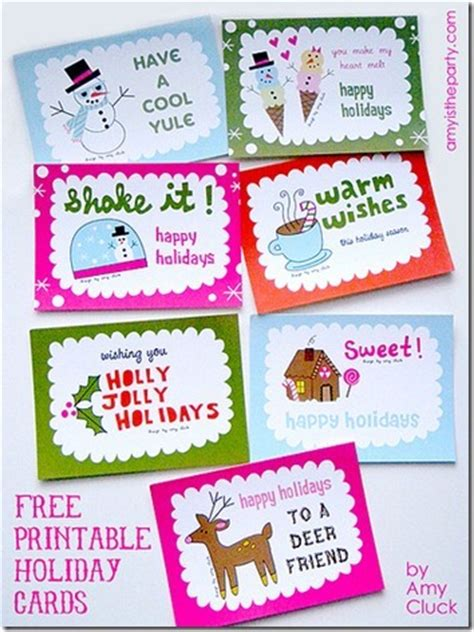 printable cards happy holidays 4 best images of printable happy holiday cards happy