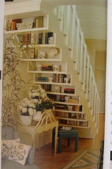 staircase bookshelves under stairs bookcase for the home pinterest
