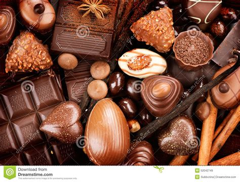 chocolates sweets background stock photo image 52042749