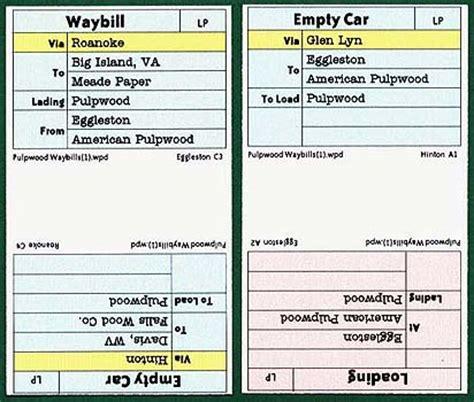 Model Railroad Car Card Template by Waybills