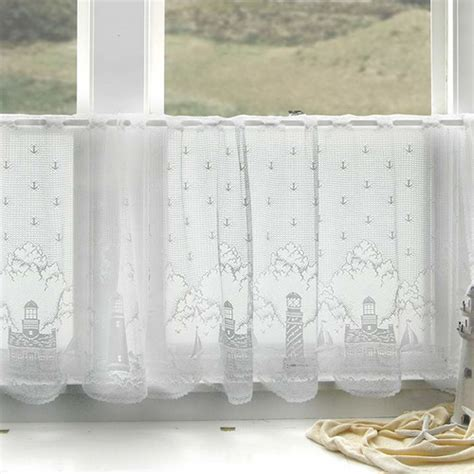 lighthouse lace curtains heritage lace lighthouse tier curtain reviews wayfair