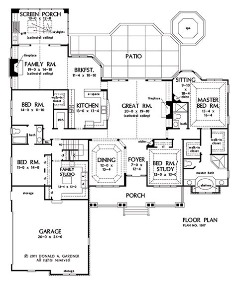 don gardner floor plans home plan the flagler by donald a gardner architects