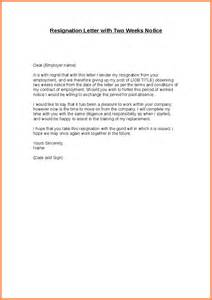Sle Of A Formal Resignation Letter by Formal Resignation Letter With 2 Weeks Notice Formal Resignation Letter With Reason Png Sales