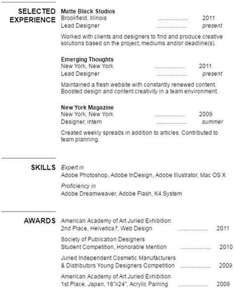 Resume Help Experience Section Experience Section Of A Cv Or Resume Unicurve