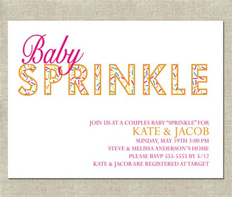 baby sprinkle invitation printable couples by invitationceleb
