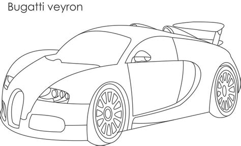 super car free colouring pages
