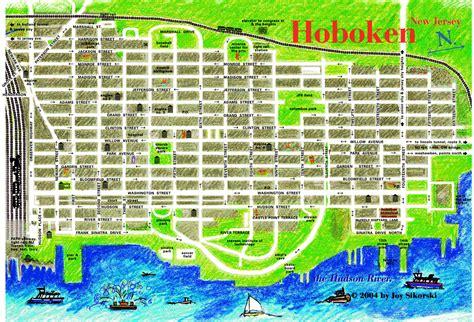 Printable Street Map Of Hoboken Nj   hoboken walking tour map hoboken nj mappery