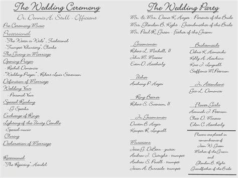 Free Tri Fold Wedding Program Templates Awesome Creative Wedding Programs Creative Maxx Ideas Creative Wedding Program Templates