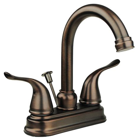 two handle high centerset lavatory faucet bronze bathroom