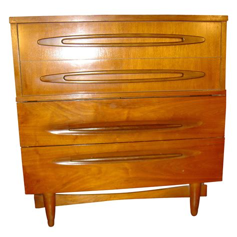 1950s Furniture by 34 Quot Vintage Wood 4 Drawer Dresser Chest Ebay