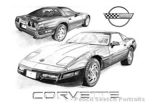 vintage corvette drawing fashioned corvette 1995 corvette drawings drawing