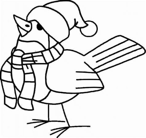 free coloring pages of birds in winter