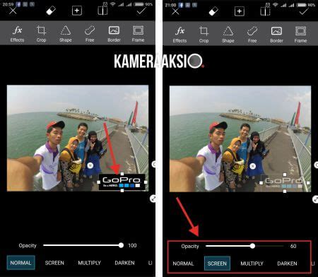 cara edit foto xiaomi yi cara menambahkan watermark foto kamera aksi gopro yi cam