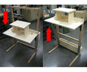 convertible sitting standing desk great counterweight