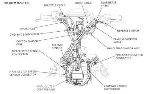 2001 honda foreman 450 es wiring diagram 40 wiring