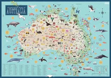 australia illustrated books australia illustrated map by mccartney tania