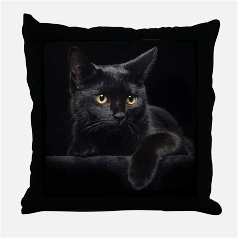 Cat Throw Pillow by Black Cat Pillows Black Cat Throw Pillows Decorative
