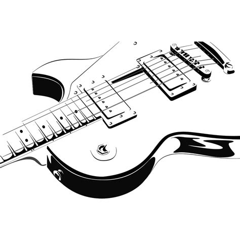 Wallpaper Stiker Black White Line 45cm X 10m electric guitar wall decals wall stickers transfers ebay