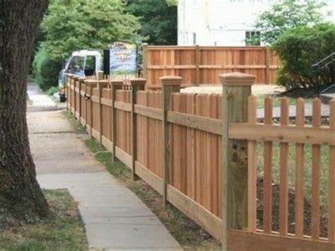 high cedar  picket fence   posts