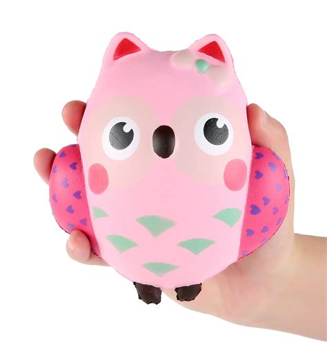 Squishy Owl Jumbo Pink squishies animal 4 pcs kawaii squishies cat