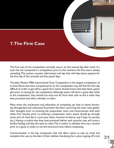 Mba Competition Tips molson mba competition guide for schools