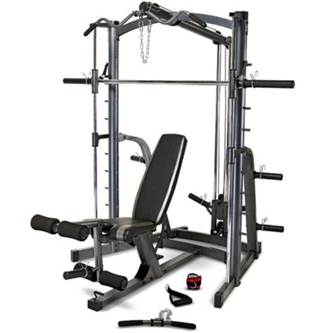 smith weight bench marcy mwb1282 home gym smith machine weight bench