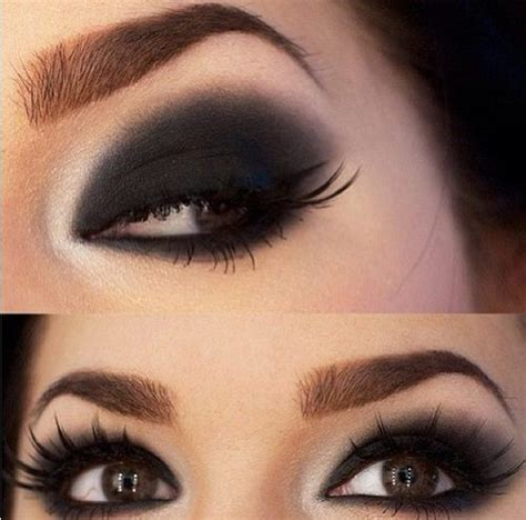 Eye Shadow Make Bold Beautiful Black Smokey Makeup Tutorial Step By