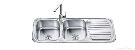 Buy Direct Kitchen Cabinets by Stainless Steel Double Bowl Sink With Drainer Board Od