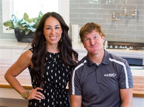 chip and joanna gaines have a couple of laughs with fixer upper stars chip and