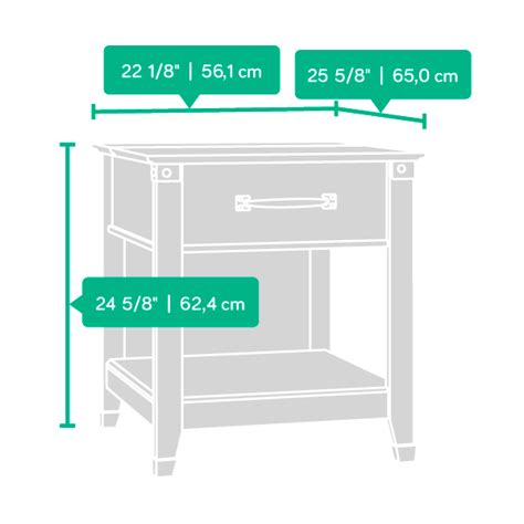 sauder smartcenter side table carson forge smartcenter side table 413350 sauder