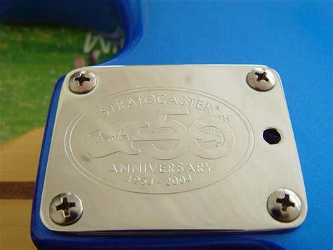 Neckplate Fender Anniversary 50th For Stratocaster fender 50th anniversary american stratocaster foldi guitar list