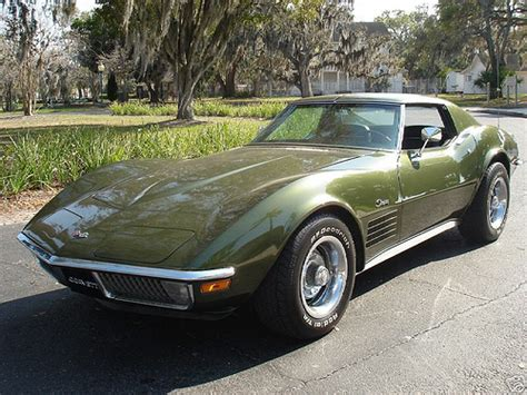 corvette stingray green 1970 green chevy corvette stingray flickr photo