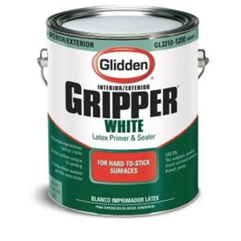 home depot paint with primer included glidden professional 1 gal gripper white primer sealer