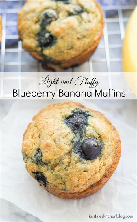Pluffy Blueberry light and fluffy blueberry banana muffins recipe muffins blueberries and lights