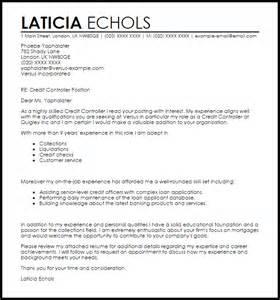 Credit Controller Cover Letter Sample Livecareer