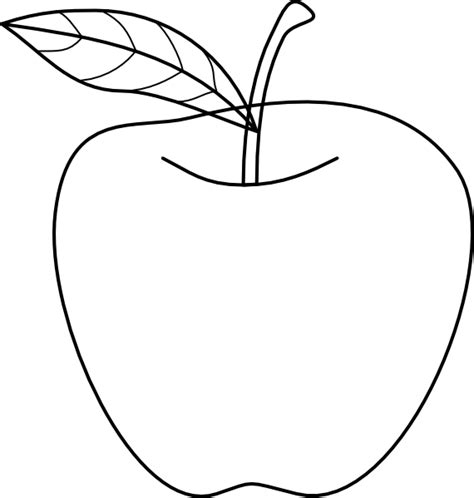 Image Outline by Apple Outline Image Clipart Best