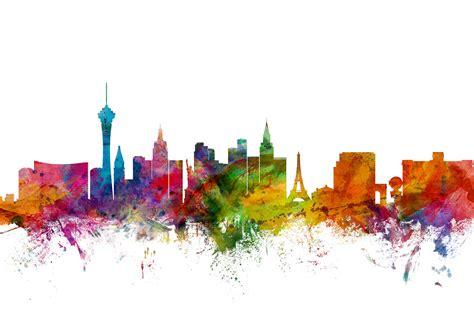 Designer Country Kitchens Las Vegas Skyline Canvas Print Amp Canvas Art Photowall