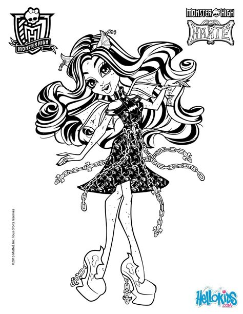 monster high rochelle coloring pages rochelle goyle 2 coloring pages hellokids com
