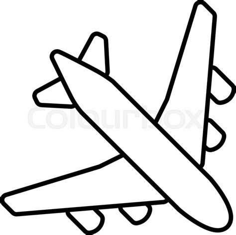 coloring page airplane outline simple outline pictures black plane outline simple