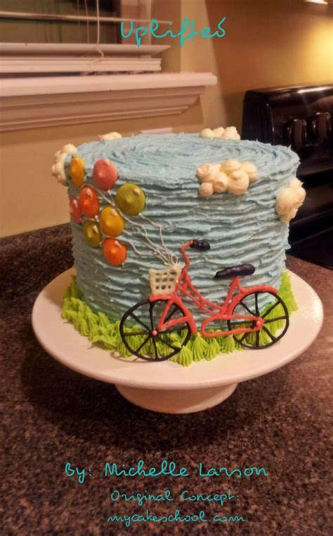ballon cake buttercream texture bicycle basket tall cake confection perfection bicycle
