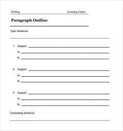 Outline Templates by Sle Blank Outline Template 7 Free Documents In Pdf Doc