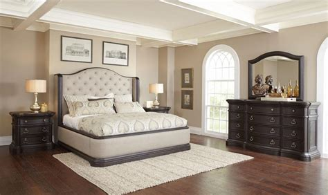 upholstered king bedroom set ravena king upholstered bedroom set by pulaski furniture
