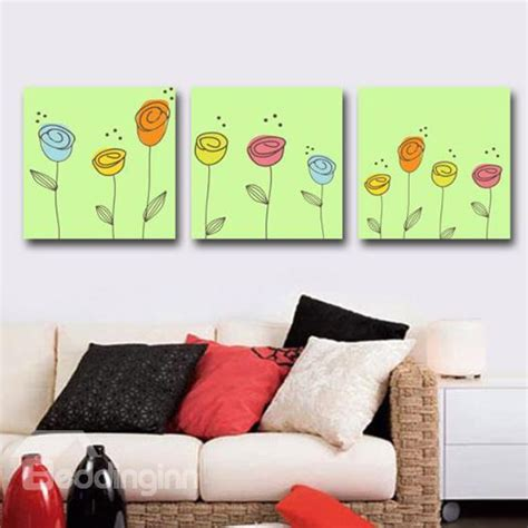 new arrival bathroom product printed new arrival lovely flowers print 3 cross wall prints feel mattress