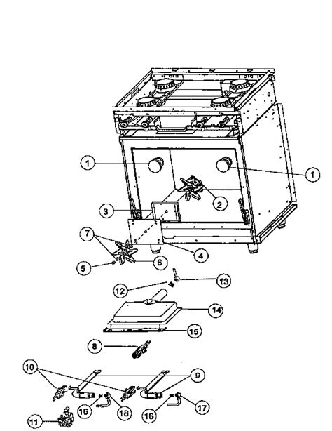 viking range parts diagram gas electrical components diagram parts list for model