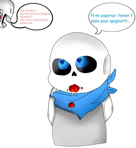 papyrus is angry at underswap sans blueberry by angel9078