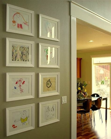 how to display art diy kids art gallery walls creative juice