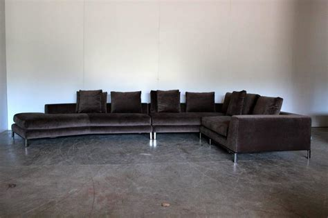 minotti sectional sofa minotti allen sectional l shape sofa in taupe brown